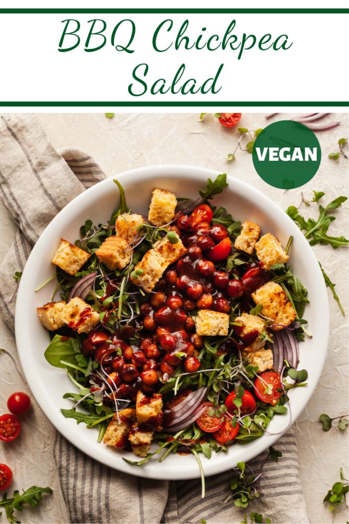 vegetarian bbq chickpea salad