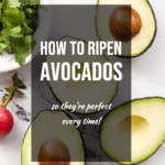 pinterest image for how to ripen avocados