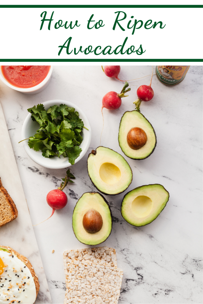 avocados and radishes