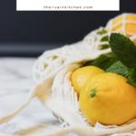 lemons in a cloth bag