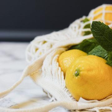 lemons in a reusable bag