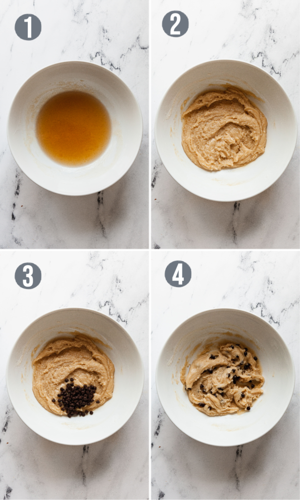 how to make vegan cookie dough in step by step photos