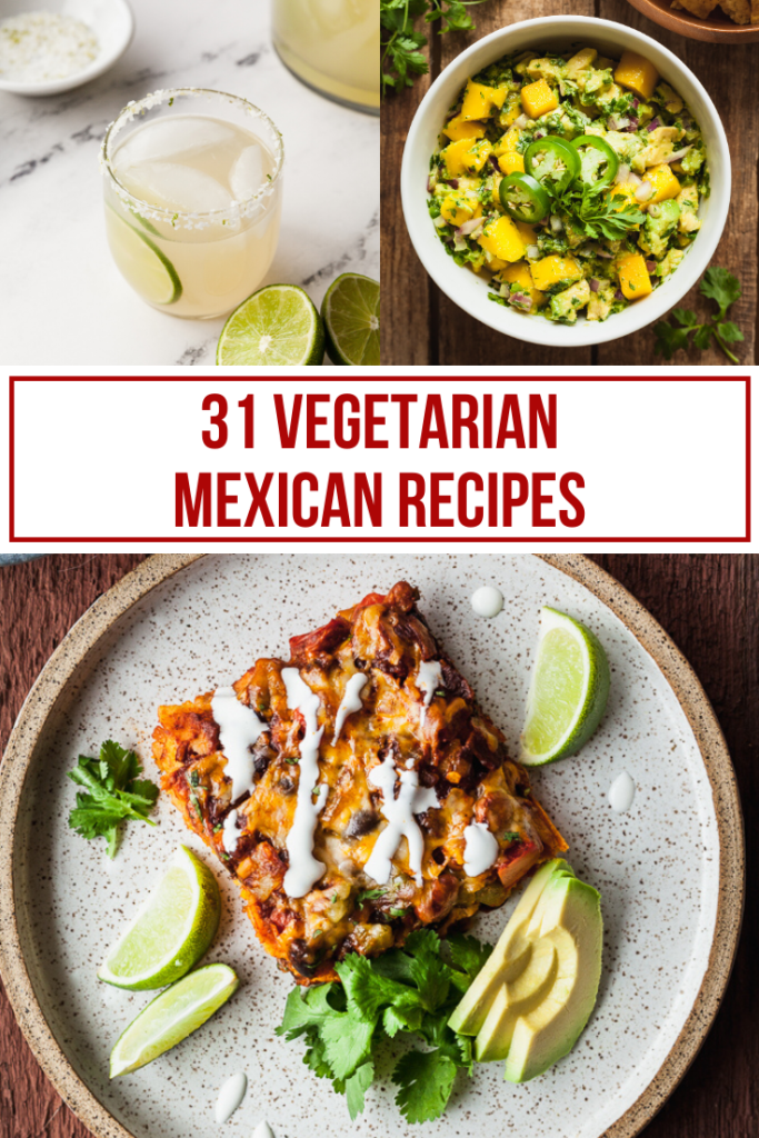 collage image for vegetarian cinco de mayo recipes