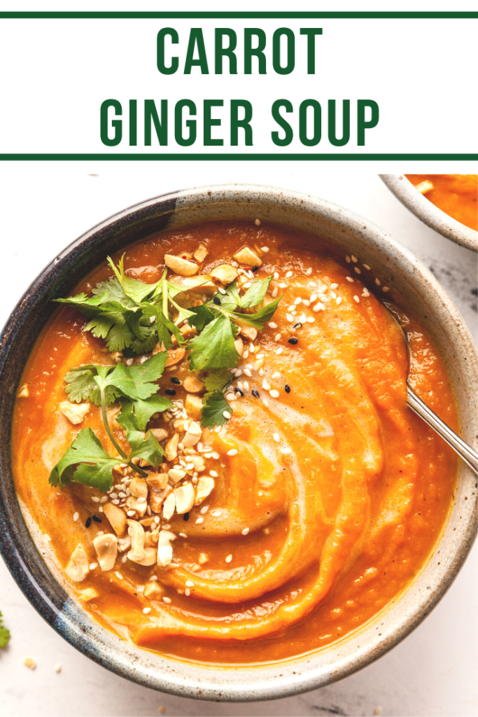 a bowl of carrot ginger soup