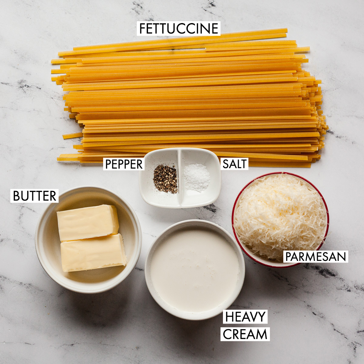 ingredients of fettuccine alfredo