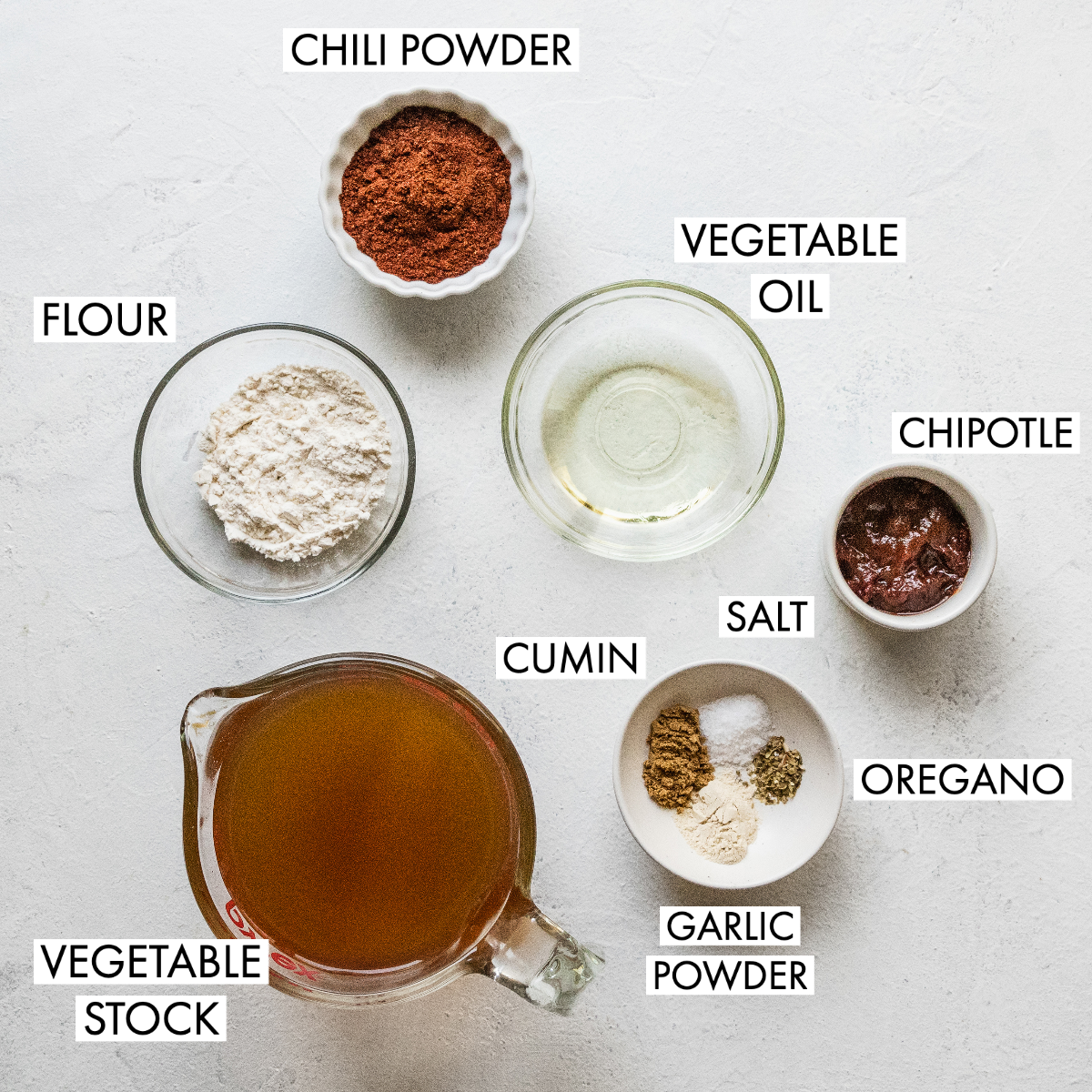 image of ingredients for chipotle enchilada sauce