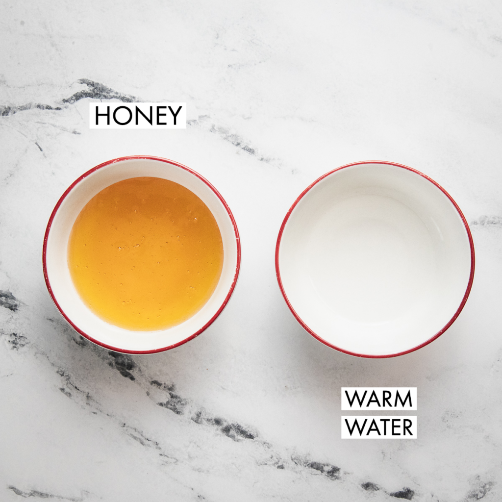 ingredients for honey simple syrup