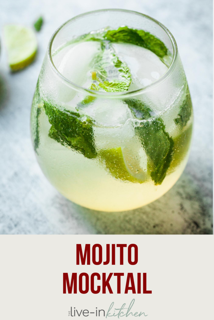 a mojito mocktail in a glass