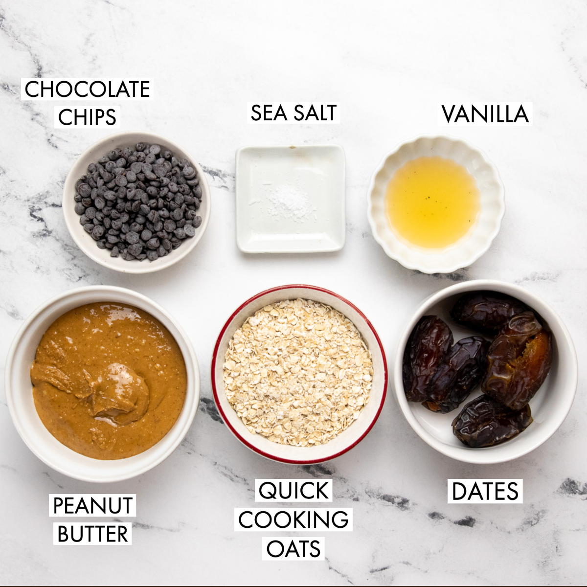 image of ingredients for peanut butter cookie dough bites