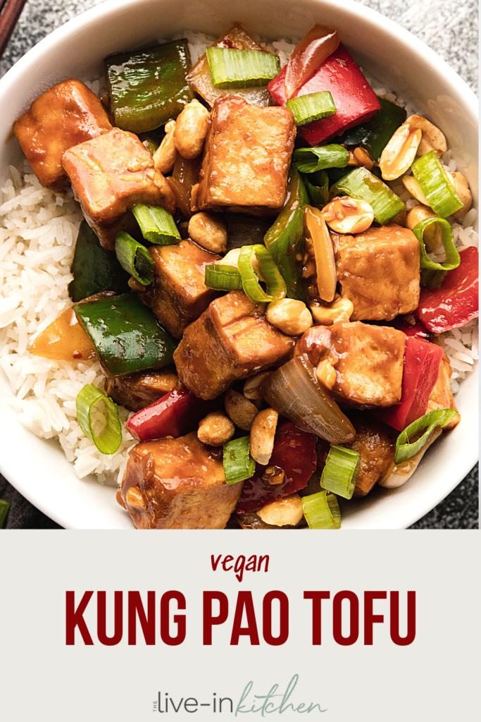 a bowl of kung pao tofu