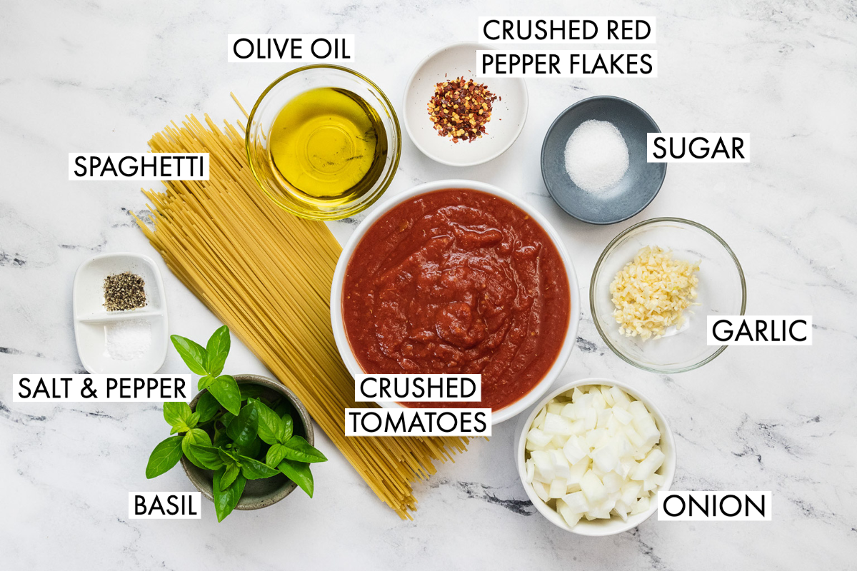 ingredients for spaghetti arrabbiata