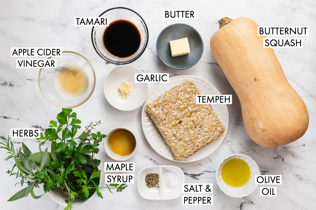 ingredients for thanksgiving baked tempeh