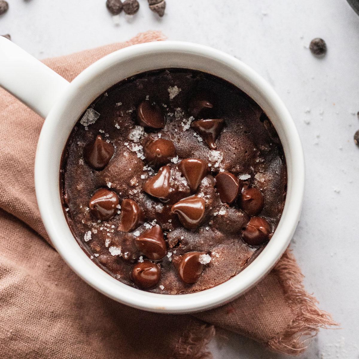 Vegan Mug Brownie 2 Minutes The Live In Kitchen