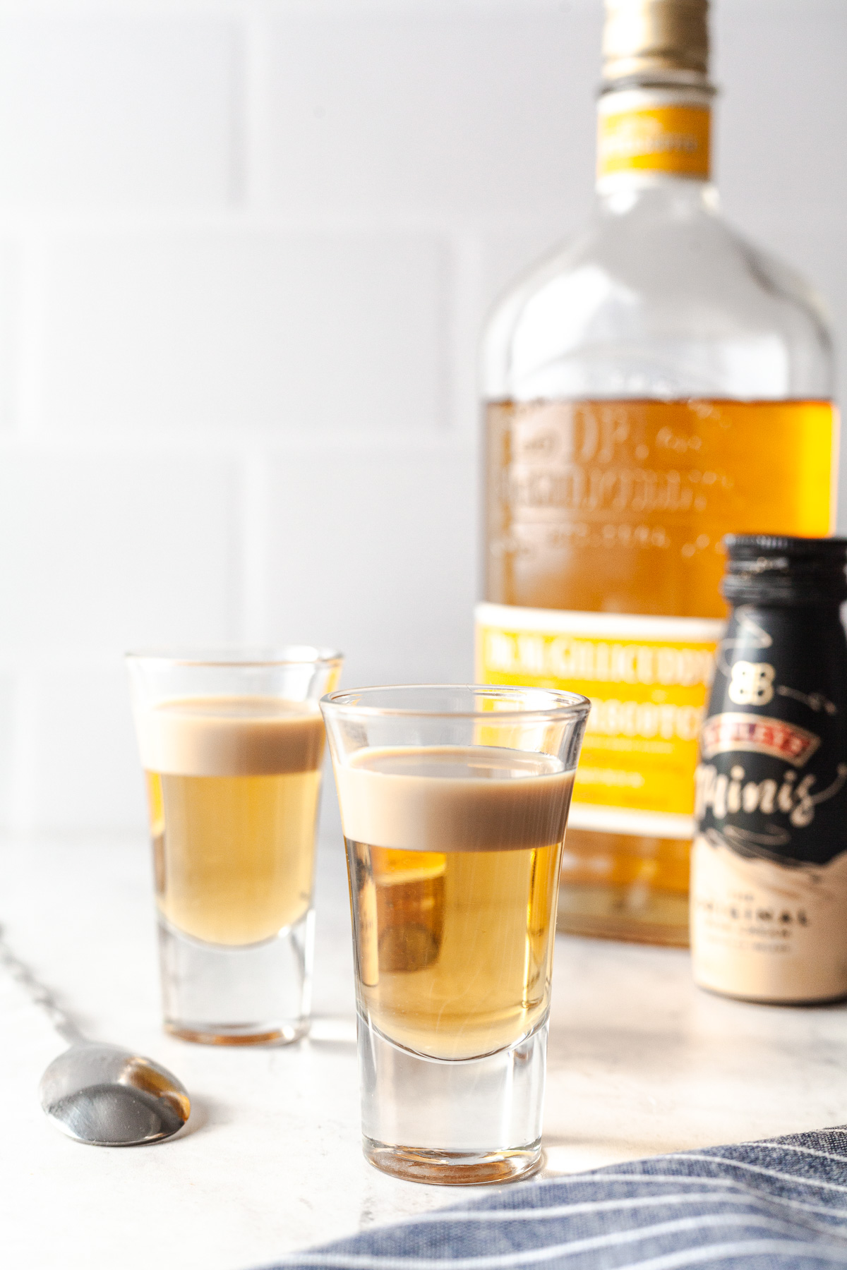 image of ingredients of a buttery nipple shot