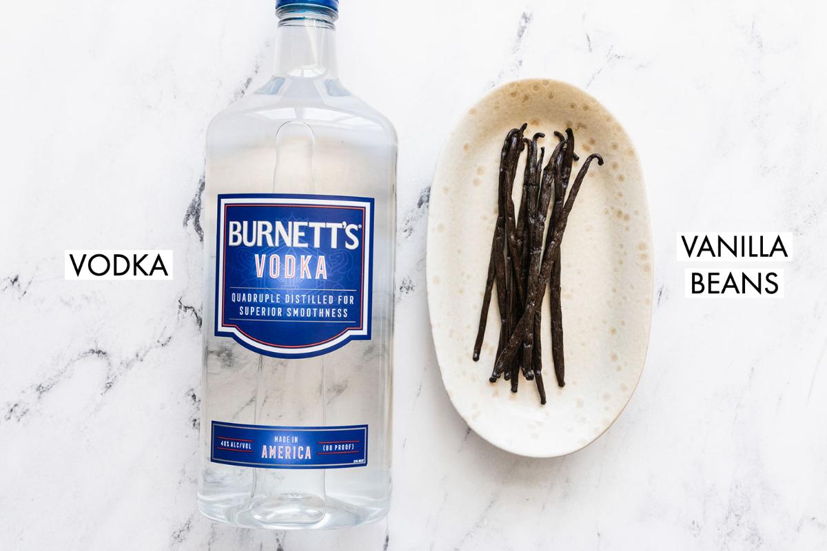 image of vodka and vanilla beans