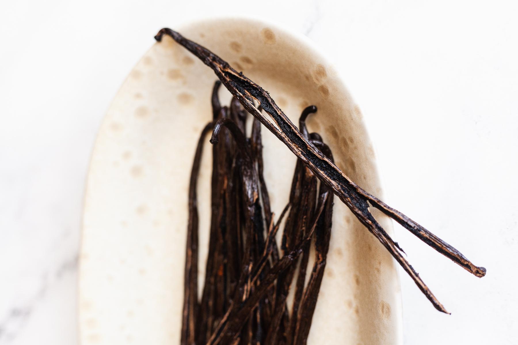 close up image of vanilla beans
