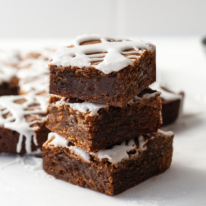 featured image of 3 gingerbread bars stacked on top of each other