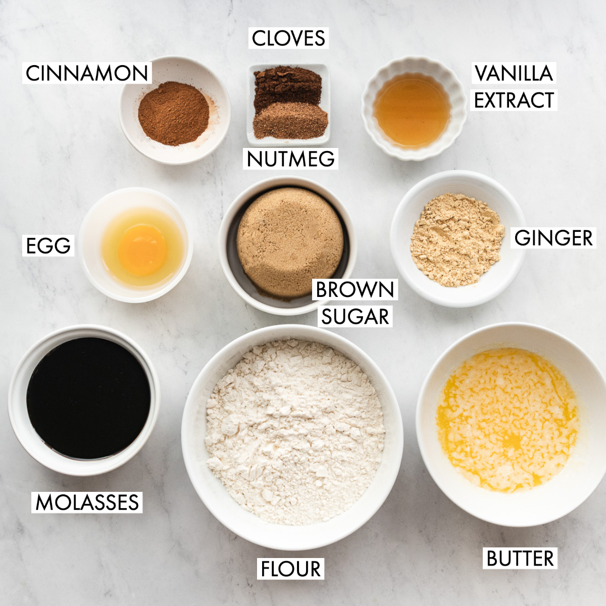 image of ingredients for gingerbread bars
