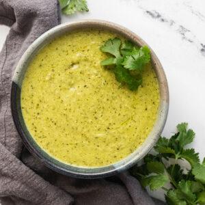 featured image of poblano cream sauce