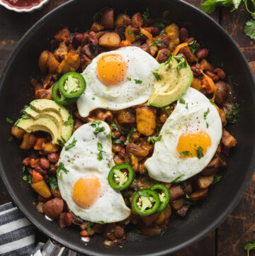 featured image of southwest veggie breakfast skillet