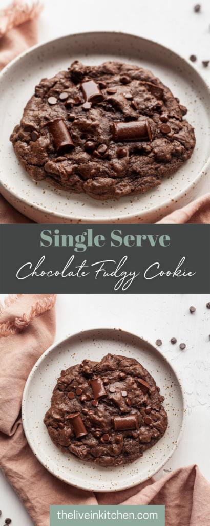single serve chocolate brownie cookie