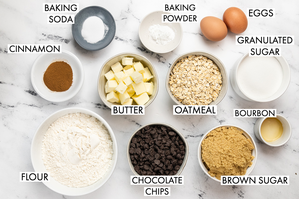 ingredients for oatmeal chocolate chip cake