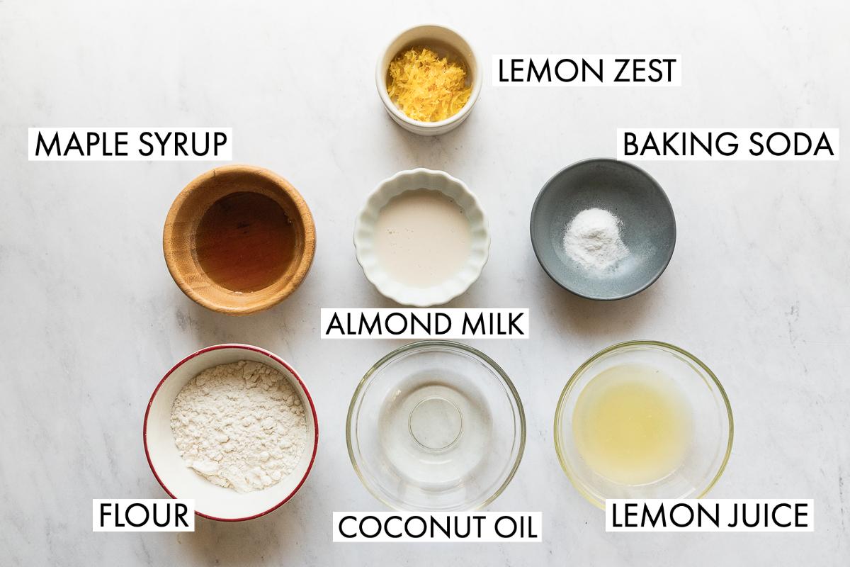 ingredients for lemon mug cake