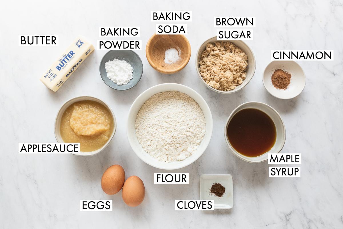 ingredients for applesauce cupcake recipe