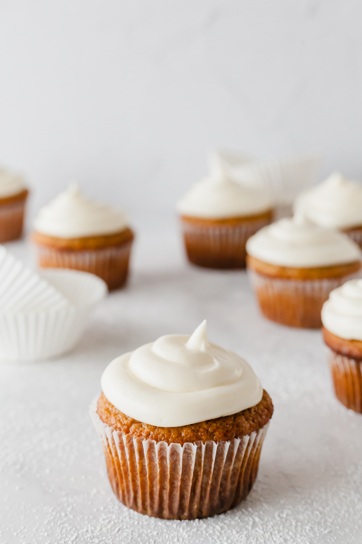 applesauce cupcakes on a white table